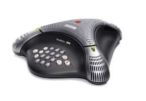 VoiceStation 300 (analog) conference phone for small rooms and offices. Non-expandable. Includes 220