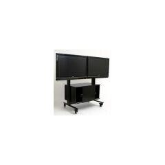Chariot VISIOTECH 2 écrans, noir, charge 100 kg