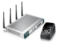 Passerelle hotspot WiFi avec imprimante à tickets 802.11a/b/g/n 300 Mbps