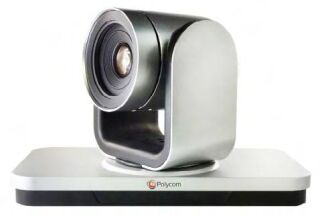 EagleEye IV-12x Camera with Polycom 2012 logo, 12x zoom, silver and black, MPTZ-10.  Compatible with RealPresence Group Series software 4.1.3 and later. Includes 3m HDCI digital cable.