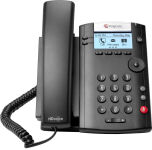 Microsoft Skype for Business/Lync edition VVX 201 2-line Desktop Phone with HD Voice, dual 10/100 Et