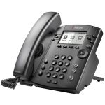 Microsoft Skype for Business/Lync edition VVX 301 6-line Desktop Phone with HD Voice, dual 10/100 Et