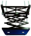 Support noir motorisé avec pantographe, poids de charge 30 kg, longueur 300 cm, 3 fins de course, ga
