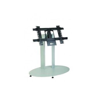 Plasmatech - Colonne sur socle hauteur 90 cm pour 1 écran, de couleur noire, mobile, fixation universelle, entraxe 1050 cm maxi