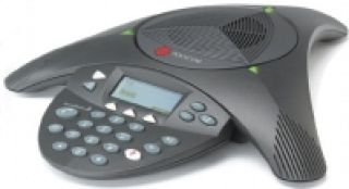 SoundStation2 (analog) conference phone with display. Non-expandable. Includes 220V-240V AC power/te
