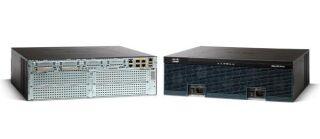 Cisco 3945 with 3 onboard GE, C3900-SPE150/K9, 4 EHWIC slots, 4 DPS slots, 1 ISM slot, 4 SM slots, 2