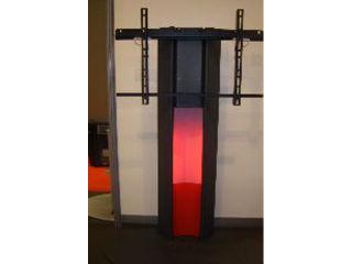 Plasmatech - Option tablette métal haute pour visioconférence, charge 15 Kg, silver
