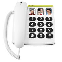 331ph Phone Easy - white. Ce téléphone a été conçu pour que son utilisation soit aussi simple que po