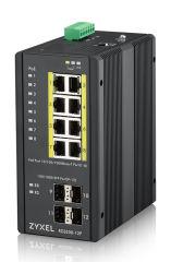 8 ports Gbps RJ45 PoE+ - 4 ports Gbps SFP - L2 - IP30 - températures extrêmes - fanless -Budget PoE